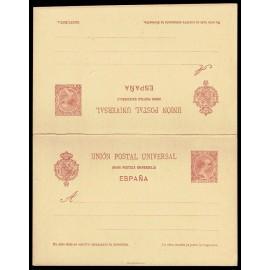 1892 ED. 33B * Tarjetas Entero Postales