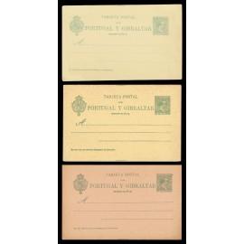 1893 ED. 34/34A/34B * Tarjetas Entero Postales