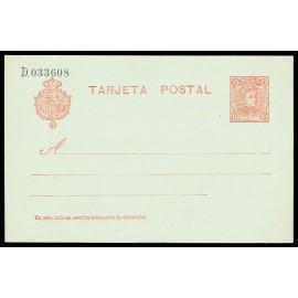 1904 ED. 45A * Tarjetas Entero Postales