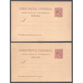 1890 ED. Tarjetas Entero Postales 29/29ea *