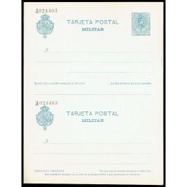 1921 ED. 1 ** Tarjetas Militares