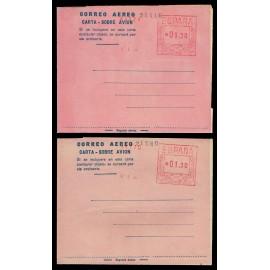 1947-1952 ED. 2ccg/2cch * Aerogramas