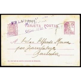Tarjeta Postal - Marca de Censura de Reinosa (Santander)