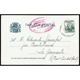 Tarjeta Postal - Marca de Censura de Torrelavega (Santander)