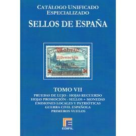 CATÁLOGO ESPECIALIZADO EDIFIL DE ESPAÑA TOMO VII