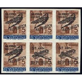 1936 ED. Barcelona NE19 + NE20 ph + NE19 + NE20 pv **