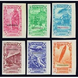 1938 ED. Andorra Beneficencia 1s/6s **