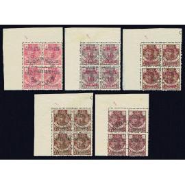 1916 ED. Cabo Juby 1/3A, 4A us [x4]