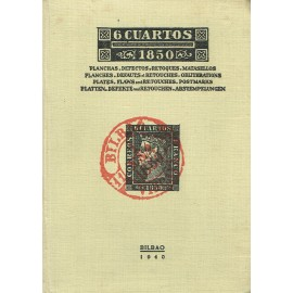 6 CUARTOS 1850 - PLATES, DEFAUTS AND RETOUCHES, POSTMARKS