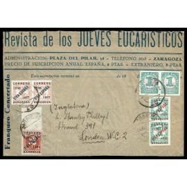 1937 ED. ELP Zaragoza 01 [x2], 26 [x2], 28 [x2], 29 us