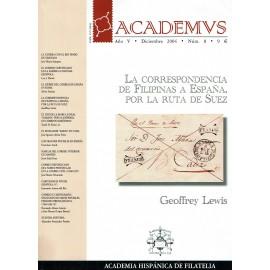 ACADEMVS 2004/08 - LA CORRESPONDENCIA DE FILIPINAS A ESPAÑA, POR LA RUTA DE SUEZ