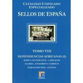 CATÁLOGO ESPECIALIZADO EDIFIL DE ESPAÑA TOMO VIII DEPENDENCIAS AFRICANAS (I)