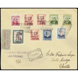 1937 ED. Canarias 14, 16/17, 18 [x2], 19, 15A [x2], 16A us