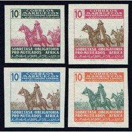 1945 ED. Marruecos Beneficencia 32s/35s **