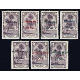 1935 ED. Marruecos Telégrafos 35/41 **
