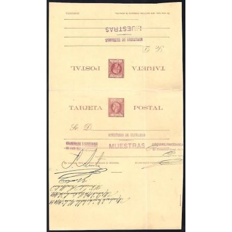 1898 ED. 35iT/38iT * Enteros Postales Cuba
