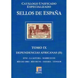 CATÁLOGO ESPECIALIZADO EDIFIL DE ESPAÑA TOMO IX DEPENDENCIAS AFRICANAS (II)