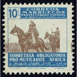 1945 ED. Marruecos Beneficencia 34id **