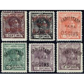 1908 ED. Elobey, Annobón y Corisco 50A/50F **