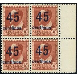 1938 ED. NE 28a ** [x4]