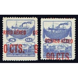 1937 ED. Asturias NE 13hdh, NE 13hdv **