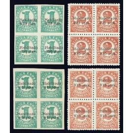 1937 ED. ELP Baleares 1/4 ** [x4]