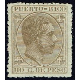 1882 ED. Puerto Rico 70 *