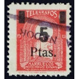 1945 ED. Marruecos Telégrafos 51 us