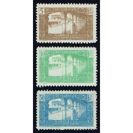 1938 ED. Marruecos Telégrafos 48/50 *