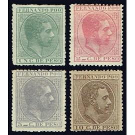 1882 ED. Fernando Poo 5/8 * (2)