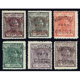 1908 ED. Elobey, Annobón y Corisco 50A/50F * (2)
