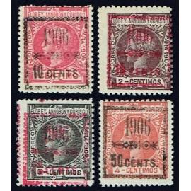 1906 ED. Elobey, Annobón y Corisco 34A/34D *