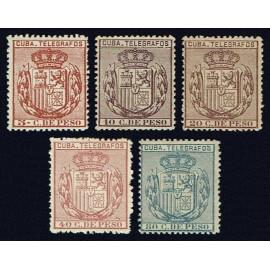 1889 ED. Cuba Telégrafos 68/72 *