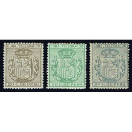 1884 ED. Cuba Telégrafos 63/65 *