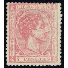 1876 ED. Cuba Telégrafos 37 * (2)