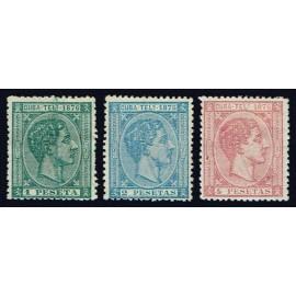 1876 ED. Cuba Telégrafos 35/37 *