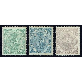 1873 ED. Cuba Telégrafos 25/27 *