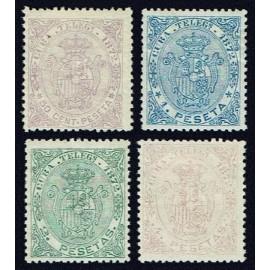 1872 ED. Cuba Telégrafos 21/24 *