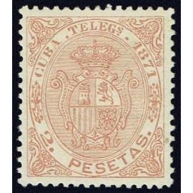 1871 ED. Cuba Telégrafos 17 *