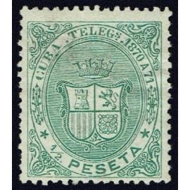 1870 ED. Cuba Telégrafos 11 * (2)