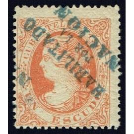 1869 ED. Cuba Telégrafos 6Aahi *