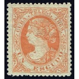 1869 ED. Cuba Telégrafos 6 *