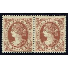 1869 ED. Cuba Telégrafos 5 * [x2]