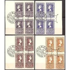 1950 ED. 1075/1076, 1079/1080 us [x4]