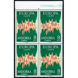 1972 ED. Andorra 72 ** [x4] (2)