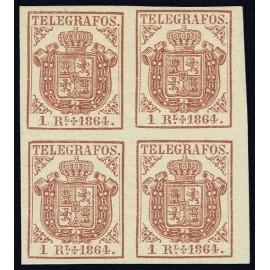 1864 ED. Telégrafos 1 * [x4]