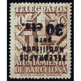 1942-1945 ED. Barcelona - Telégrafos 20hi **