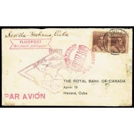 Graf Zeppelin A Cuba ED. 323 [x2]