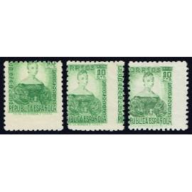 1935 ED. 682dh, 682dv [x2] **