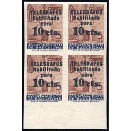 1936 ED. Barcelona - Telégrafos 09s ** [x4]
